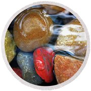 Calming Stones Round Beach Towel