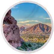 Camelback Mountain  Round Beach Towel