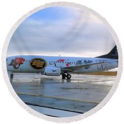 Canadian Football League Official  Plane   Round Beach Towel