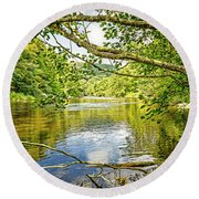 Canal Pool Round Beach Towel