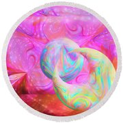 Candy Universe Round Beach Towel