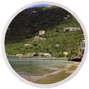 Round Beach Towel featuring the photograph Cane Garden Bay by Tony Murtagh