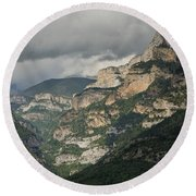 Round Beach Towel featuring the photograph Canyon Anisclo by Stephen Taylor