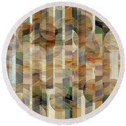 Canyon Circles And Stripes Round Beach Towel