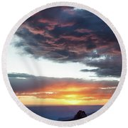 Canyon Sunset Round Beach Towel