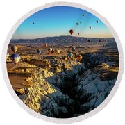 Round Beach Towel featuring the photograph Capadoccia by Francisco Gomez