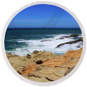 Round Beach Towel featuring the photograph Cape Arago Coast 6 by Dawn Richards