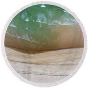 Cape Cod Beach Abstract Round Beach Towel