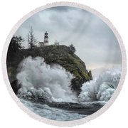Cape Disappointment Chaos Round Beach Towel