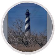 Round Beach Towel featuring the photograph Cape Hatteras Lighthouse by Pete Federico