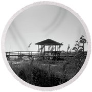 Cape San Blas Round Beach Towel
