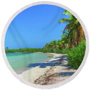 Caribbean Palm Beach Round Beach Towel