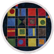 Carnival Of Colors Round Beach Towel