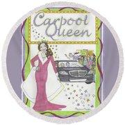 Carpool Queen Round Beach Towel