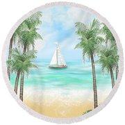 Carribean Bay Round Beach Towel