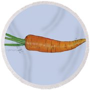 Carrot Round Beach Towel