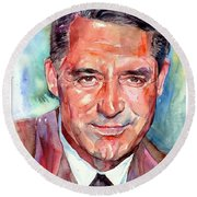 Cary Grant Portrait Round Beach Towel