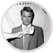 Cary Grant, Screen Test, Wardrobe Test, North By Northwest, Hair Mussed And Drunk Round Beach Towel