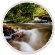 Round Beach Towel featuring the photograph Cascades On The Provo Deer Creek by TL Mair