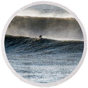 Catching The Wave Round Beach Towel