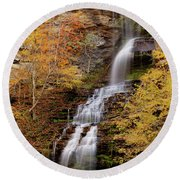 Round Beach Towel featuring the photograph Cathedral Falls by Pete Federico