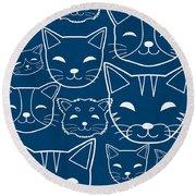 Cats- Art By Linda Woods Round Beach Towel