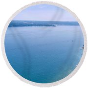 Cayuga From Above Round Beach Towel