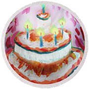 Celebration Cake Round Beach Towel