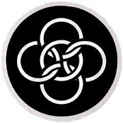 Celtic Five Fold Symbol 2 Round Beach Towel