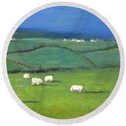 Celtic Sheep Round Beach Towel