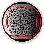 Celtic Shield Knot 4 Round Beach Towel