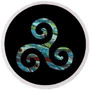 Celtic Spiral 2 Round Beach Towel