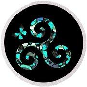 Celtic Spiral 3 Round Beach Towel