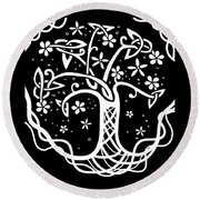 Celtic Tree Of Life 3 Round Beach Towel