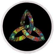 Celtic Triquetra Or Trinity Knot Symbol 1 Round Beach Towel