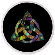 Celtic Triquetra Or Trinity Knot Symbol 3 Round Beach Towel