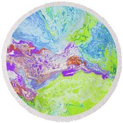 Central Maui Round Beach Towel