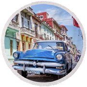 Centro Habana - Vertical Round Beach Towel
