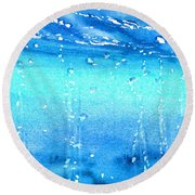 Champagne Sea 1 Round Beach Towel