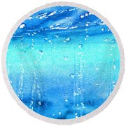 Champagne Sea 2 Round Beach Towel
