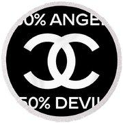 Chanel Angel Or Devil-4 Round Beach Towel