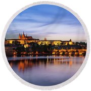 Charles Bridge Round Beach Towel