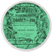 Charles Dickens  Dombey And Son Round Beach Towel