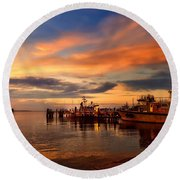 Charleston Dawn Round Beach Towel