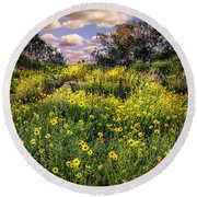 Chatsworth Wildflower Bloom Round Beach Towel