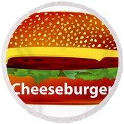 Cheeseburger Round Beach Towel