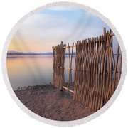 Round Beach Towel featuring the photograph Chega De Saudade by Davor Zerjav