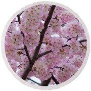 Cherry Blossoms 8611 Round Beach Towel