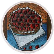 Cherry Pie Round Beach Towel