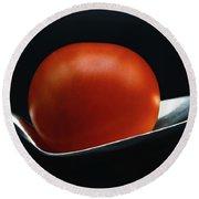 Cherry Tomato Round Beach Towel